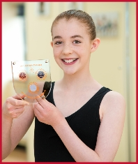 Teenage ballet dancer has her Melody Movement Grand Classique award