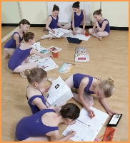 Photograph of ballerinas working on the Melody Movement Ballet Classique challenges