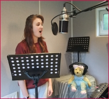 Stephanie singing Melody Bear's First Tap & Modern song