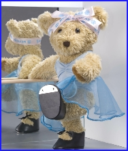 Melody Bear at the barre practising her tap dancing