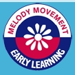 Melody Bear logo.  Copyright R Beeton, J Ewing Melody Movement Early Learning