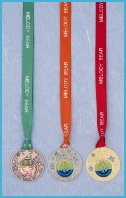 Photo of medals from the Melody Movement preschool dance curriculum