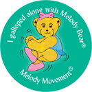 Graphic of dance award sticker copyright R Beeton J Ewing Melody Movement Early Learning
