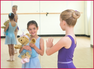Melody Bear and young ballerinas