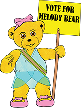 Vote for Melody Bear Whatson4 littleones.co.uk