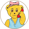 Melody Bear on the telephone