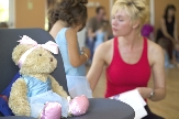 Melody Bear always helps Jill Bridger in the Melody Movement dancing classes