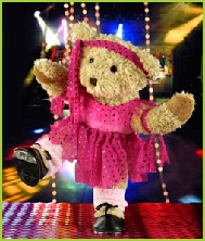 Photo of Melody Bear disco dancing