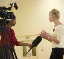 Jill Bridger, author of Melody Bear, is interviewed for ITV news