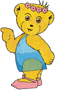 Graphic of Melody Bear as the ballerina bear